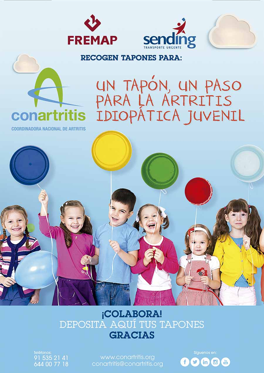 ConArtritis, artritis, asociación, tapones, fremap, solidaridad, niño, reumatología, reuma, idiopática, crónico, paciente