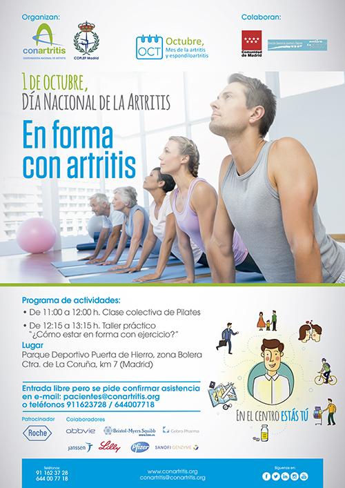 artritis, ejercicio, reumatoide, ConArtitis, deporte, pilates, fisioterapia, crónico, paciente, asociación, reuma, reumatología, reumatólogo