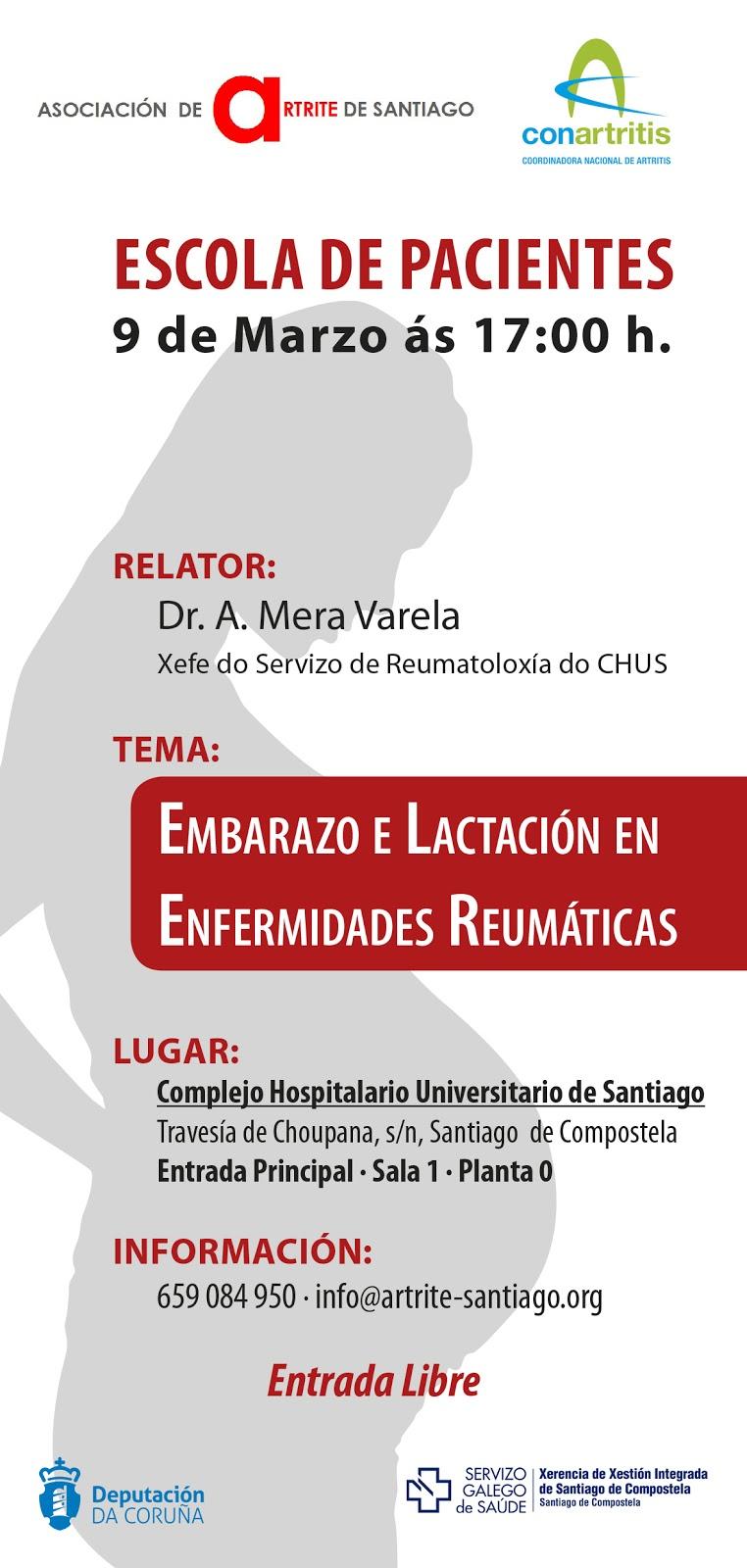artritis, ConArtritis, asociación, reumatología, reuma, artrosis, embarazo, reumática, Santiago, psoriásica, biológico, biosimilar, reumatoide